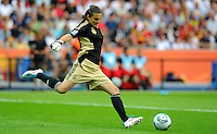 Nadine Angerer of Germany during the FIFA Women's World Cup at the FIFA Stadium in Berlin, Germany on June 26th, 2011.