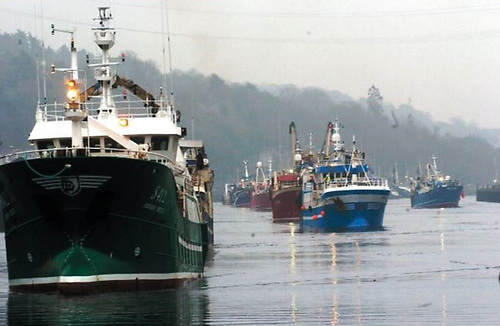 A flotilla of trawlers are heading for Cork City on Wednesday