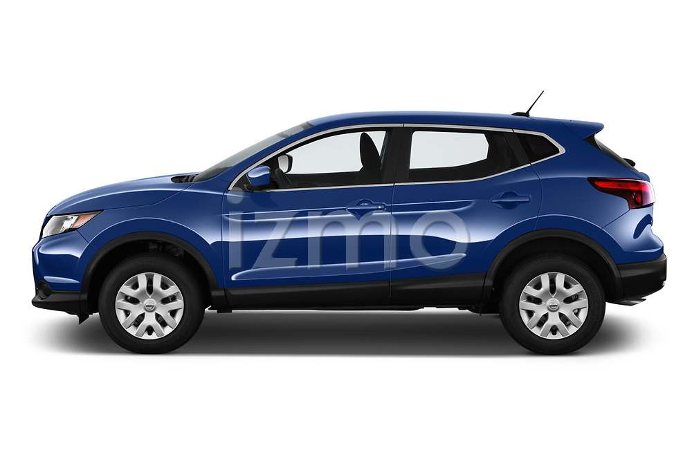 Car Driver side profile view of a 2019 Nissan Rogue-Sport S 5 Door SUV Side View