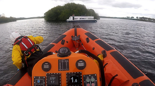 The cruiser had run aground one mile south of Belleisle Estate on Lough Erne