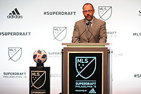 Philadelphia, PA - Thursday January 19, 2018: J. Todd Durbin during the 2018 MLS SuperDraft at the Pennsylvania Convention Center.