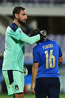 Gianluigi Donnarumma of Italy and Alessandro Florenzi of Italy during the Uefa Nation League Group Stage A1 football match between Italy and Bosnia at Artemio Franchi Stadium in Firenze (Italy), September, 4, 2020. Photo Massimo Insabato / Insidefoto