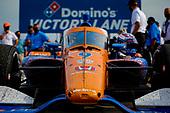 #9: Scott Dixon, Chip Ganassi Racing Honda celebrates winning the Bommarito Automotive Group 500 Race 1