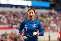 Korea Republic (KOR) goalkeeper Kim Jungmi (1). The women's national team of the United States defeated the Korea Republic 5-0 during an international friendly at Red Bull Arena in Harrison, NJ, on June 20, 2013.
