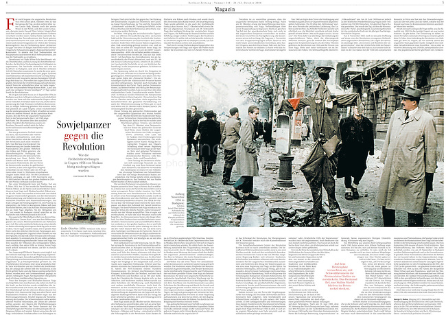 Berliner Zeitung, 2006/10/21..Budapest uprising in colour..Photo: Jeno Kiss