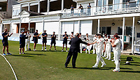 Matt Milnes of Kent receives his county cap from Paul Downton during Kent CCC vs Worcestershire CCC, LV Insurance County Championship Division 3 Cricket at The Spitfire Ground on 5th September 2021