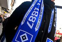 HSV-Fan in Hamburg St.Pauli, Deutschland