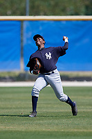 New York Yankees Terrance Robertson (70) during practice before a Minor League Spring Training game against the Toronto Blue Jays on March 18, 2018 at Englebert Complex in Dunedin, Florida.  (Mike Janes/Four Seam Images)