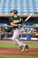 Nicholas Sanzel #9 of Farragut High School in Knoxville, Tennessee playing for the Oakland Athletics scout team during the East Coast Pro Showcase at Alliance Bank Stadium on August 1, 2012 in Syracuse, New York.  (Mike Janes/Four Seam Images)