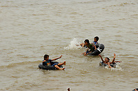Kids and teeangers play in West baray water rerservoir near<br /> Siem Reap <br /> , Cambodia<br /> <br /> PHOTO :  Agence Quebec Presse<br /> <br /> <br /> <br /> <br /> <br /> PHOTO : Agence Quebec Presse