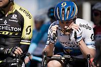 Matteo TRENTIN (ITA/Mitchelton-Scott) in the start line<br /> <br /> Stage 6: Peynier to Brignoles (176km)<br /> 77th Paris - Nice 2019 (2.UWT)<br /> <br /> ©kramon