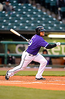 Louisville Bats shortstop Emmanuel Burriss #9 during a game against the Indianapolis Indians on April 19, 2013 at Louisville Slugger Field in Louisville, Kentucky.  Indianapolis defeated Louisville 4-1.  (Mike Janes/Four Seam Images)