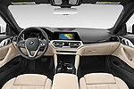 Stock photo of straight dashboard view of 2021 BMW 4-Series-Coupe 430i 2 Door Coupe Dashboard