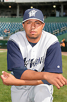Fort Wayne Wizards Alfredo Fernandez poses for a photo before a Midwest League game at Oldsmobile Park on July 13, 2006 in Fort Wayne, Indiana.  (Mike Janes/Four Seam Images)
