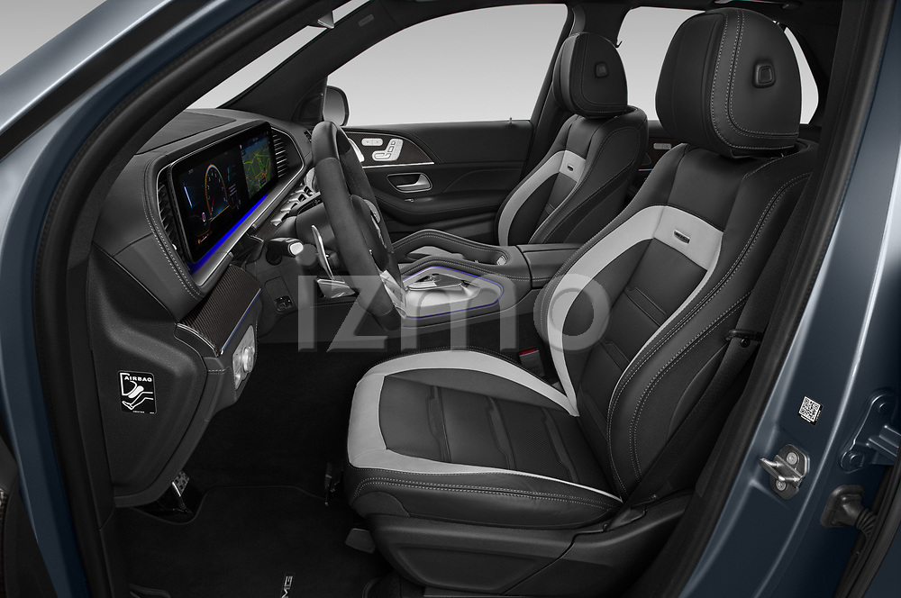 Front seat view of 2021 Mercedes Benz GLE AMG-63-S 5 Door SUV Front Seat  car photos