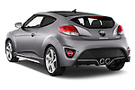 Car pictures of rear three quarter view of2015 Hyundai Veloster Turbo 3 Door Hatchback Angular Rear