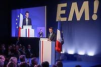 EMMANUEL MACRON DEVOILE SON PROGRAMME DE CANDIDAT A L ELECTION PRESIDENTIELLE LORS D UNE CONFERENCE DE PRESSE AU PAVILLON GABRIEL.
