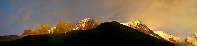 Sunset on the Mont Blanc Massif - Chamonix Mont Blanc, France