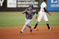 Tampa Yankees catcher Sharif Othman (62) running the bases during the second game of a doubleheader against the Bradenton Marauders on June 14, 2017 at LECOM Park in Bradenton, Florida.  Tampa defeated Bradenton 5-1.  (Mike Janes/Four Seam Images)