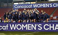 Frisco, TX - Wednesday October 17, 2018: The women's national teams of the United States (USA) and Canada (CAN) play in an 2018 CONCACAF Women's Championship game at Toyota Stadium.