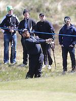 Sunday 31st May 2015; Shane Lowry, Ireland, plays into  the 8th green<br /> <br /> Dubai Duty Free Irish Open Golf Championship 2015, Round 4 County Down Golf Club, Co. Down. Picture credit: John Dickson / DICKSONDIGITAL