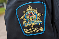 Alberta Correctional Peace officer badge is seen during a police memorial parade in Ottawa Sunday September 26, 2010.