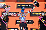 Ruben Guerreiro (POR) EF Pro Cycling wins Stage 9 of the 103rd edition of the Giro d'Italia 2020 running 208km from San Salvo to Roccaraso (Aremogna), Sicily, Italy. 11th October 2020.  <br /> Picture: LaPresse/Gian Mattia D'Alberto   Cyclefile<br /> <br /> All photos usage must carry mandatory copyright credit (© Cyclefile   LaPresse/Gian Mattia D'Alberto)
