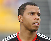 Charlie Davis#9 of D.C. United during a second round match of the Carolina Challenge against the Chicago Fire on March 9 2011 at Blackbaud Stadium, in Charleston, South Carolina. D.C. United won 1-0.