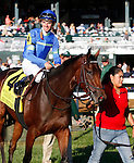 October 10, 2015:  Her Emmynency and jockey Florent Geroux win the 32nd running of the Queen Elizabeth II Challenge Cup (Grade 1) $500,000 at Keeneland for trainer Michael Stidham and owner Dawn and Ike Thrash.  Candice Chavez/ESW/CSM