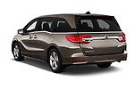 Car pictures of rear three quarter view of a 2018 Honda Odyssey EX-L 5 Door Mini Van angular rear
