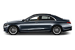 Car Driver side profile view of a 2021 Mercedes Benz S-Class - 4 Door Sedan Side View