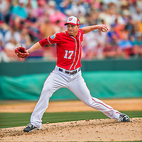 3 March 2016: Washington Nationals pitcher Sean Burnett on the mound during a Spring Training pre-season game against the New York Mets at Space Coast Stadium in Viera, Florida. The Nationals defeated the Mets 9-4 in Grapefruit League play. Mandatory Credit: Ed Wolfstein Photo *** RAW (NEF) Image File Available ***