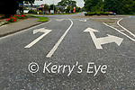 Road markings approaching the Mounthawk roundabout on the Tralee to Ardfert R551 road