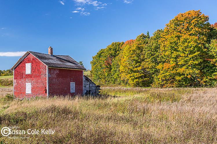 Farm country in Presque Isle, Maine, USA