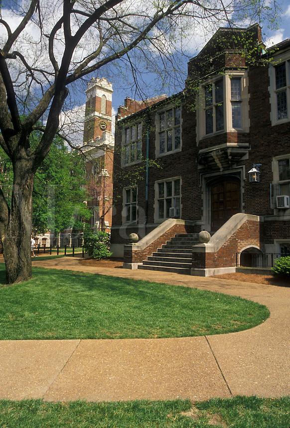 AJ4165, university, Vanderbilt, college, Nashville, Vanderbilt University, Tennessee, Buildings on the campus of Vanderbilt University in Nashville in the state of Tennessee.