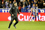 Deportivo Alaves' coach Mauricio Pellegrino celebrates the victory in the Spanish Kings Cup semifinal. February 08,2017. (ALTERPHOTOS/Acero)