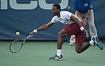 July  22, 2016:  Gael Monfils (FRA) defeated Sam Querrey (USA) 6-4, 3-6, 6-1, at the Citi Open being played at Rock Creek Park Tennis Center in Washington, DC.  ©Leslie Billman/Tennisclix/CSM