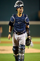 Tampa Tarpons catcher Antonio Gomez (5) during Game Two of the Low-A Southeast Championship Series against the Bradenton Marauders on September 22, 2021 at LECOM Park in Bradenton, Florida.  (Mike Janes/Four Seam Images)