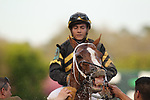 HOT SPRINGS, AR - MARCH 18: Love That Lute #9, ridden by Gary Stevens after winning in the 6th race at Oaklawn Park on March 18, 2017 in Hot Springs, Arkansas. (Photo by Justin Manning/Eclipse Sportswire/Getty Images)