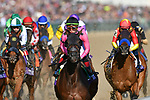 November 3, 2018: The field heads to the first turn in the Longines Breeders' Cup Distaff on Breeders' Cup World Championship Saturday at Churchill Downs on November 3, 2018 in Louisville, Kentucky. Michael McInally/Eclipse Sportswire/CSM