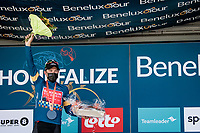 stage winner and new overall leader Sonny Colbrelli (ITA/Bahrain - Victorious) on the podium<br /> <br /> 17th Benelux Tour 2021<br /> Stage 6 from Ottignies/Louvain-la-Neuve to Houffalize (BEL/208km)<br /> <br /> ©kramon