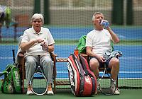 Hilversum, The Netherlands, March 09, 2016,  Tulip Tennis Center, NOVK, Mixed Doubles, Peter Gerritsen and Wil Baks<br /> Photo: Tennisimages/Henk Koster