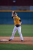 Justin Leyba during the Under Armour All-America Pre-Season Tournament, powered by Baseball Factory, on January 19, 2019 at Sloan Park in Mesa, Arizona.  Justin Leyba is a second baseman / third baseman from Foresthill, California who attends Foresthill High School.  (Mike Janes/Four Seam Images)