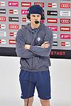 Tim Wohlgemuth (Nr.33 - ERC Ingolstadt) vor dem Spiel im Interview bei Magenta Sport beim Spiel in der Gruppe Sued der DEL, ERC Ingolstadt (dunkel) - Augsburger Panther (hell).<br /> <br /> Foto © PIX-Sportfotos *** Foto ist honorarpflichtig! *** Auf Anfrage in hoeherer Qualitaet/Aufloesung. Belegexemplar erbeten. Veroeffentlichung ausschliesslich fuer journalistisch-publizistische Zwecke. For editorial use only.