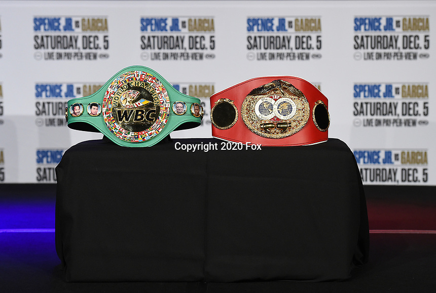 DALLAS, TX - DECEMBER 2: Press conference for the Errol Spence Jr. vs Danny Garcia December 5, 2020 Fox Sports PBC Pay-Per-View title fight at AT&T Stadium in Arlington, Texas. (Photo by Frank Micelotta/Fox Sports)