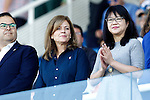 CD Leganes' President Victoria Pavon (l) and Valencia CF's Lay Hoon during La Liga match. September 25,2016. (ALTERPHOTOS/Acero)