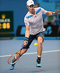 Andy Murray (GBR) defeats Stephane Robert (FRA)  6-1, 6-2, 6-7, 6-2