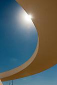 Brasilia, Brazil. National Museum, Museu Nacional Honestino Guimarães, architect Oscar Niemeyer.