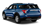 Car pictures of rear three quarter view of 2020 Ford Explorer XLT 5 Door SUV Angular Rear