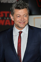"""Andy Serkis at the world premiere for """"Star Wars: The Last Jedi"""" at the Shrine Auditorium. Los Angeles, USA 09 December  2017<br /> Picture: Paul Smith/Featureflash/SilverHub 0208 004 5359 sales@silverhubmedia.com"""